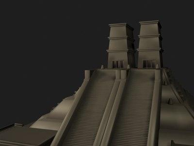 3d model architecture aztecs