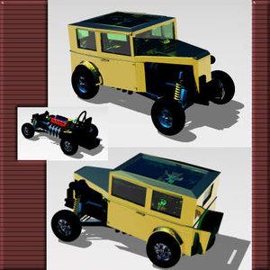 3d dragster model