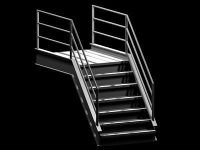 stairs 3d 3ds