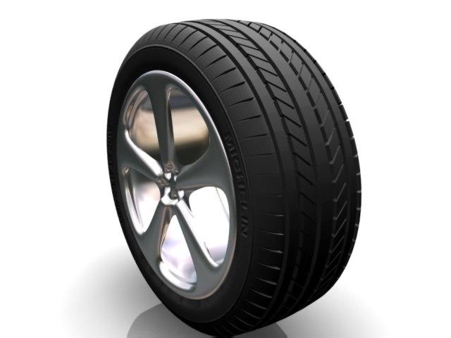 wheel tire rim 3d model
