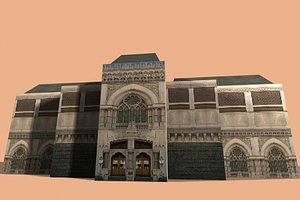 3d ancient building model