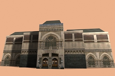 3d ancient building model
