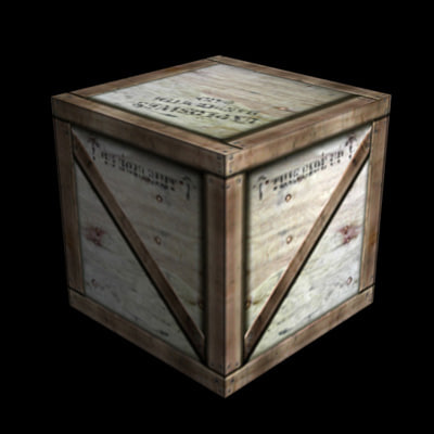 3ds wood crate