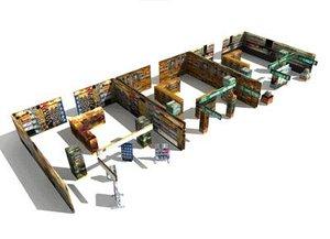 lowpolygon store interiors 3d model