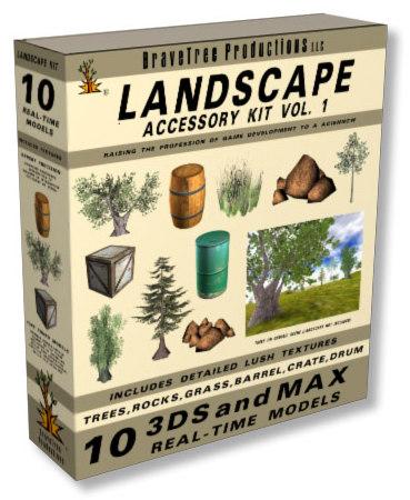 trees landscapes 3d model