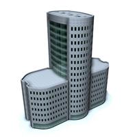 office building city c4d