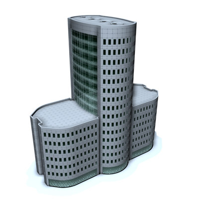 office building city c4d