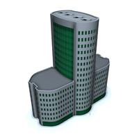 office building city 3d model