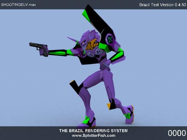 free eva robot mech 3d model