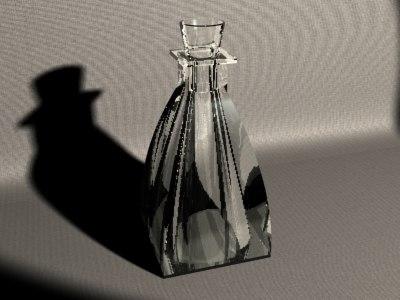 maya tall decor glass bottle