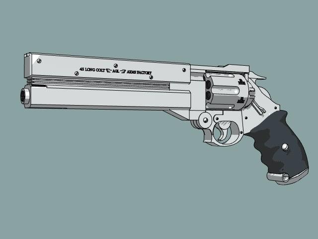 3d model of gun vash