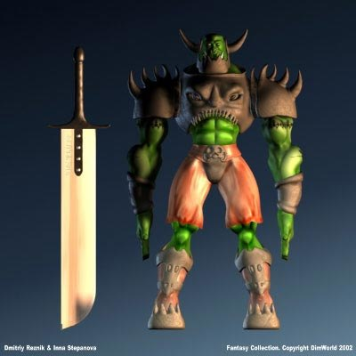 3d fantasy character ork chieftan