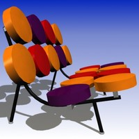 george nelson chair 3d 3ds