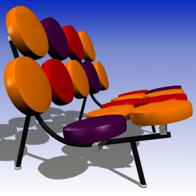 3d model george nelson sofa