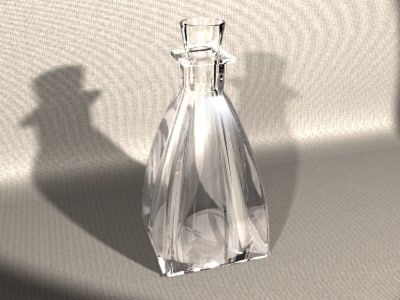max rounded decor glass bottle