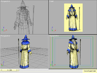 3ds max merlin sorcerer