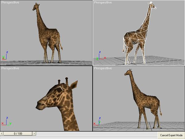 free giraffe 3d model
