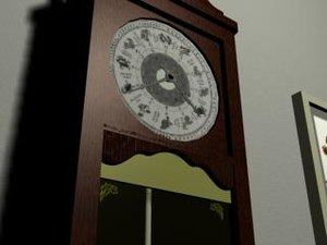 3ds max grandfather clock