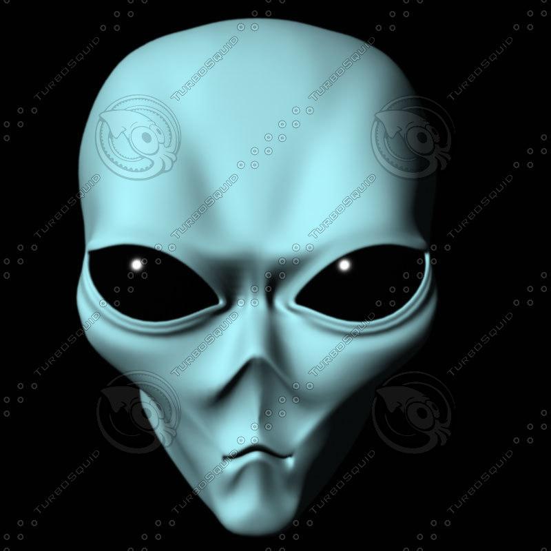 3d alien scifi model
