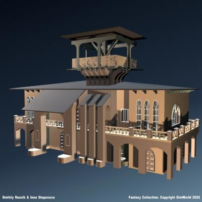 fantasy medieval tavern 3d model