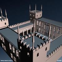 3dsmax fantasy medieval range tower