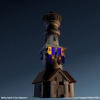 3d fantasy medieval tower