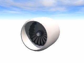 jet engine 3ds