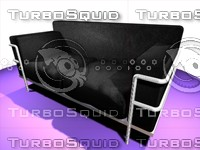 corbousier sofa 3d model