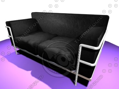 corbousier sofa 3d model