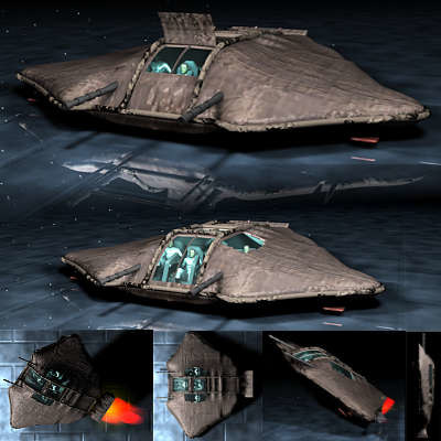 cinema4d space fighter