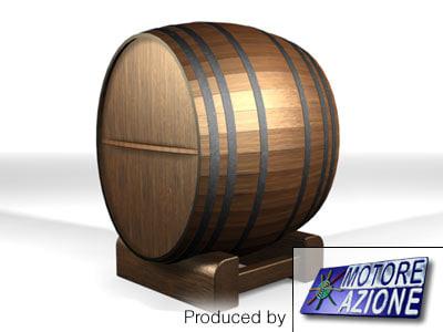 wooden wine barrel 3d max