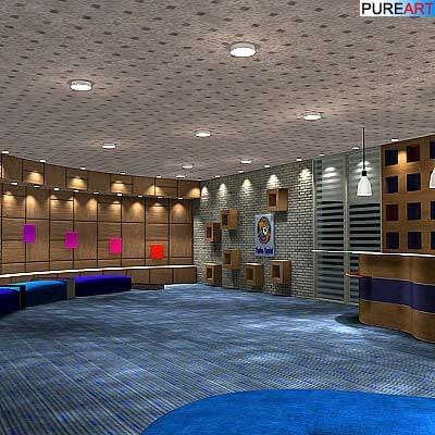 reception office furniture 3d model