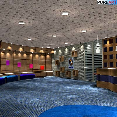 reception office furniture 3d model