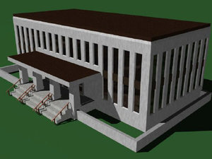 3d model building administrative office