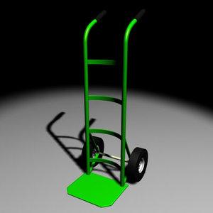 free handtruck 3d model