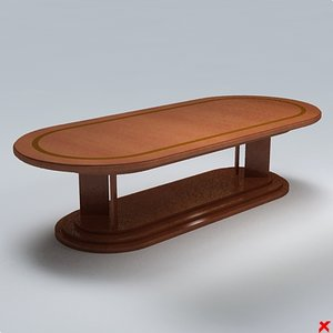free table dining 3d model