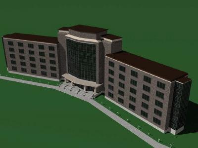 building hotel apartment 3d 3ds