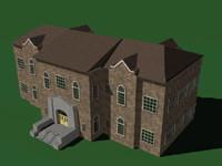 building academic office 3d model