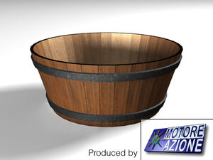 3d wooden vat model