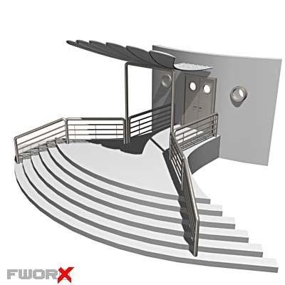 3d entrance shed model