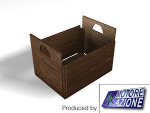 3d wooden bin