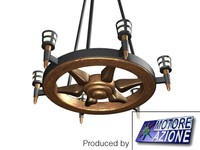 cart pendant lamp 3d max