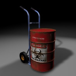3d model drum containing toxic