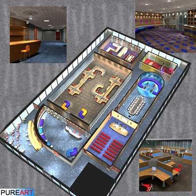 office interior furniture 3d model