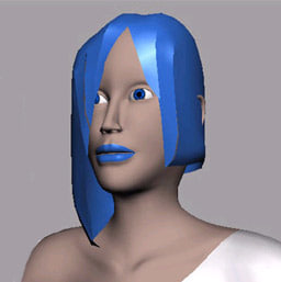 female polygons subdivision 3d model