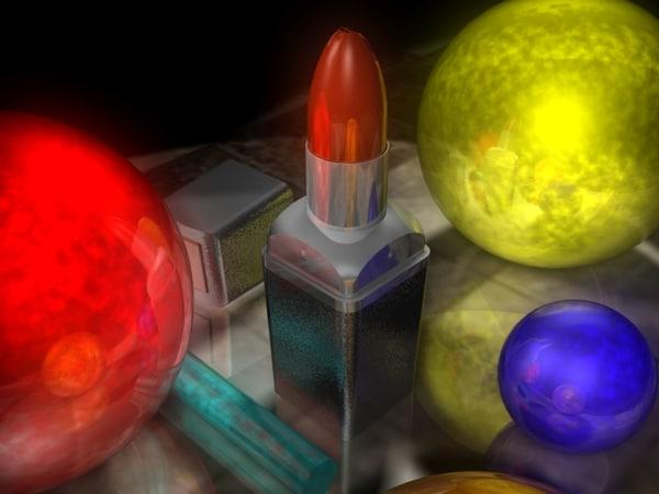 lipstick squared 3d max