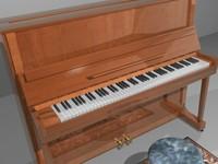 piano chair carpet 3d model