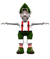 3d model elf holiday