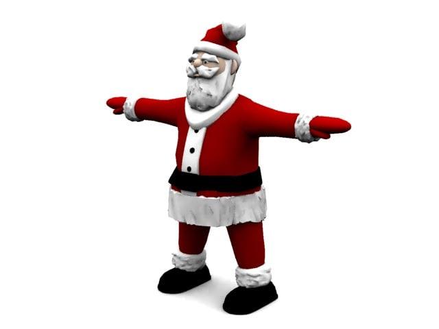 3d santa model