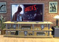 living room tv stereo 3d 3ds